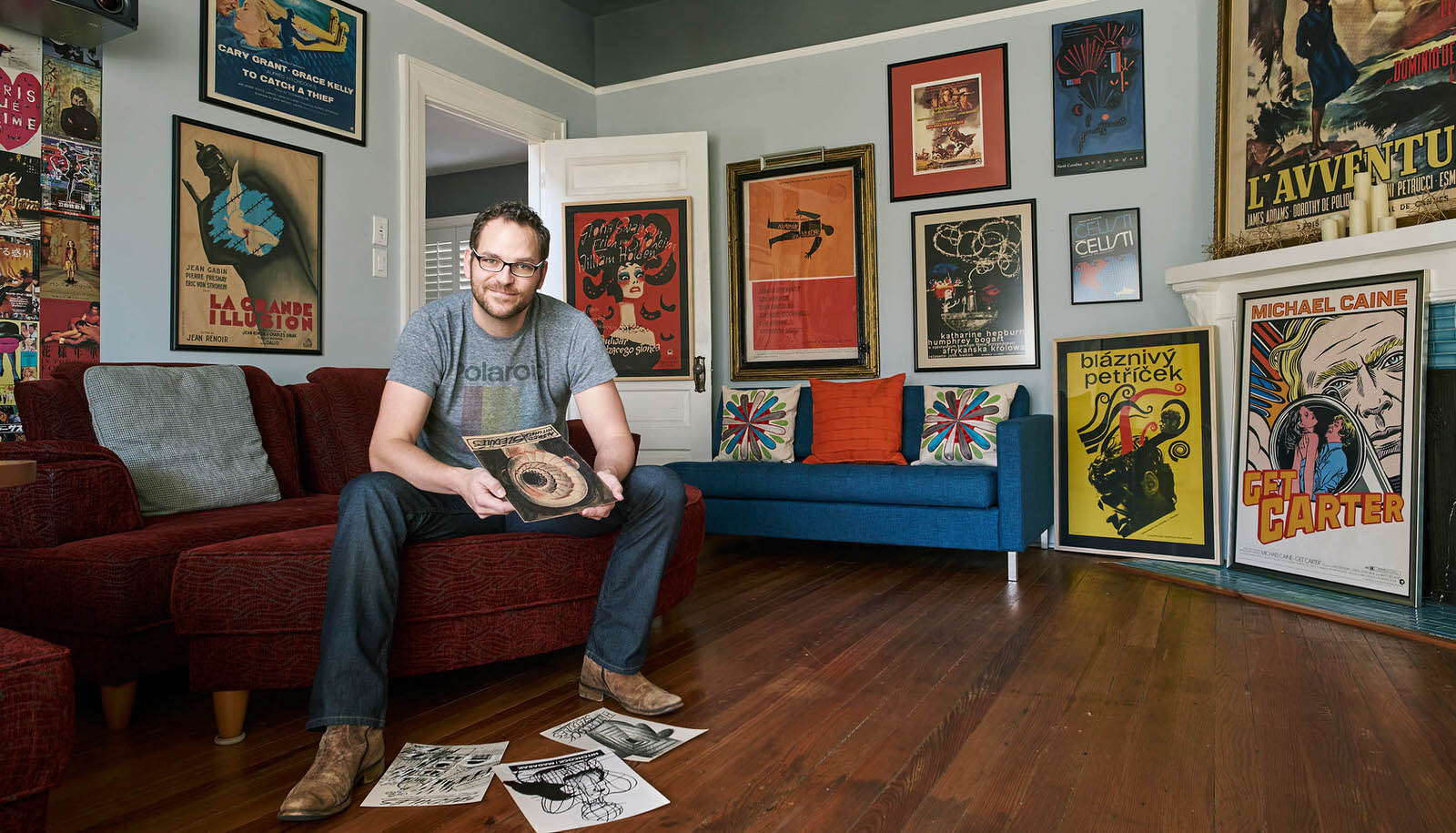 Matt Johnston, owner of the Marquee Gallery. Photo by Ian Curcio.