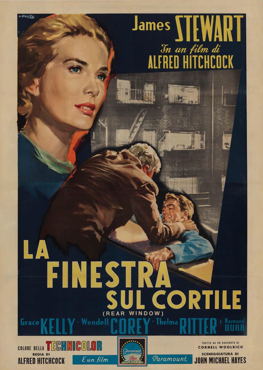 Marquee poster rear window 1954 italian 4 foglio - La finestra sul cortile film completo ...