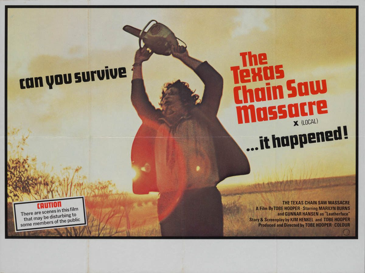 Marquee Poster | Texas Chainsaw Massacre 1976 UK quad