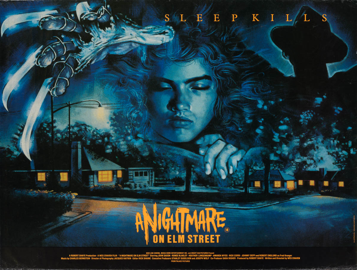 Marquee Poster | Nightmare on Elm Street 1984 UK quad