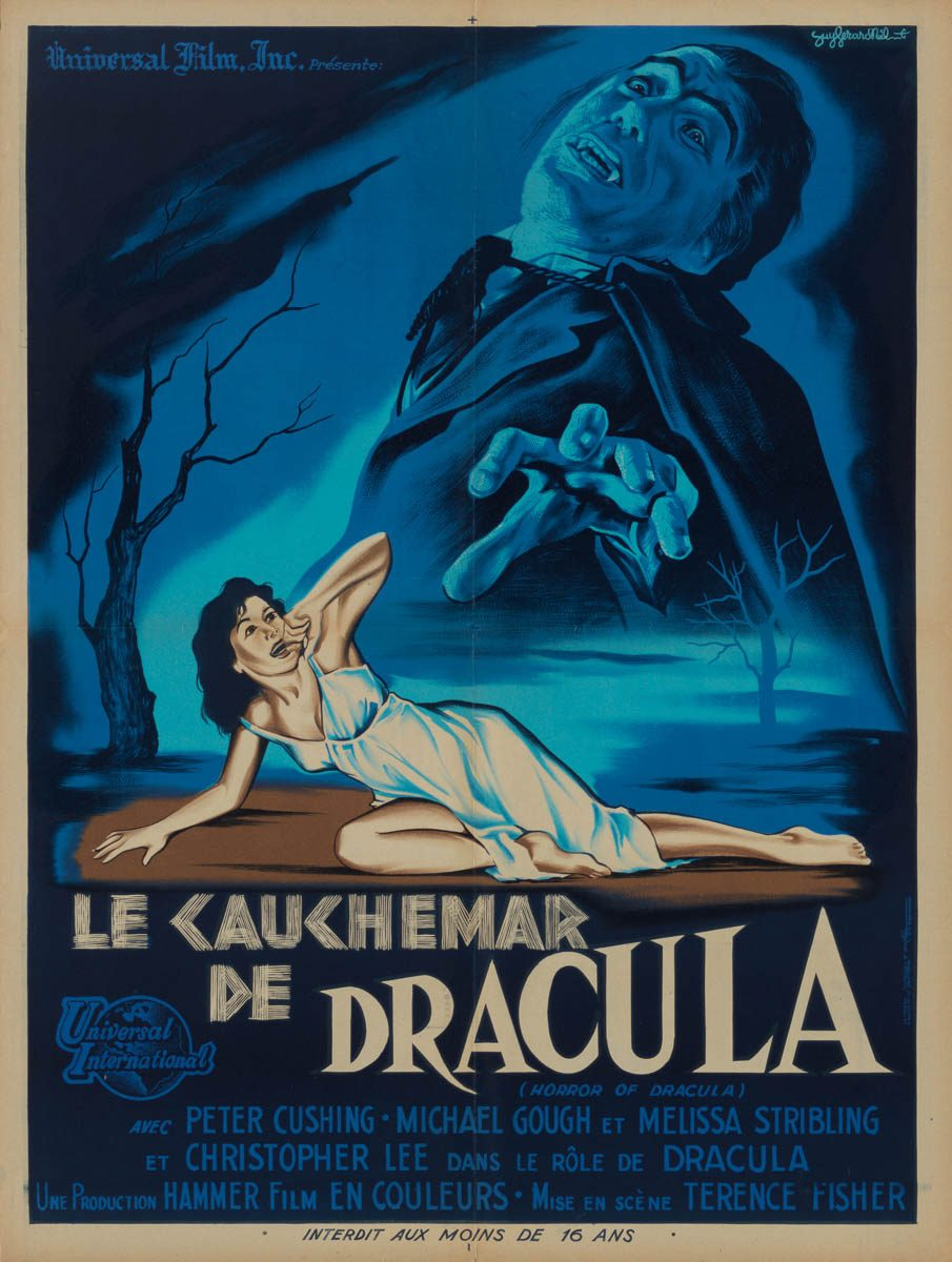 Marquee Poster | Horror of Dracula 1958 French moyenne