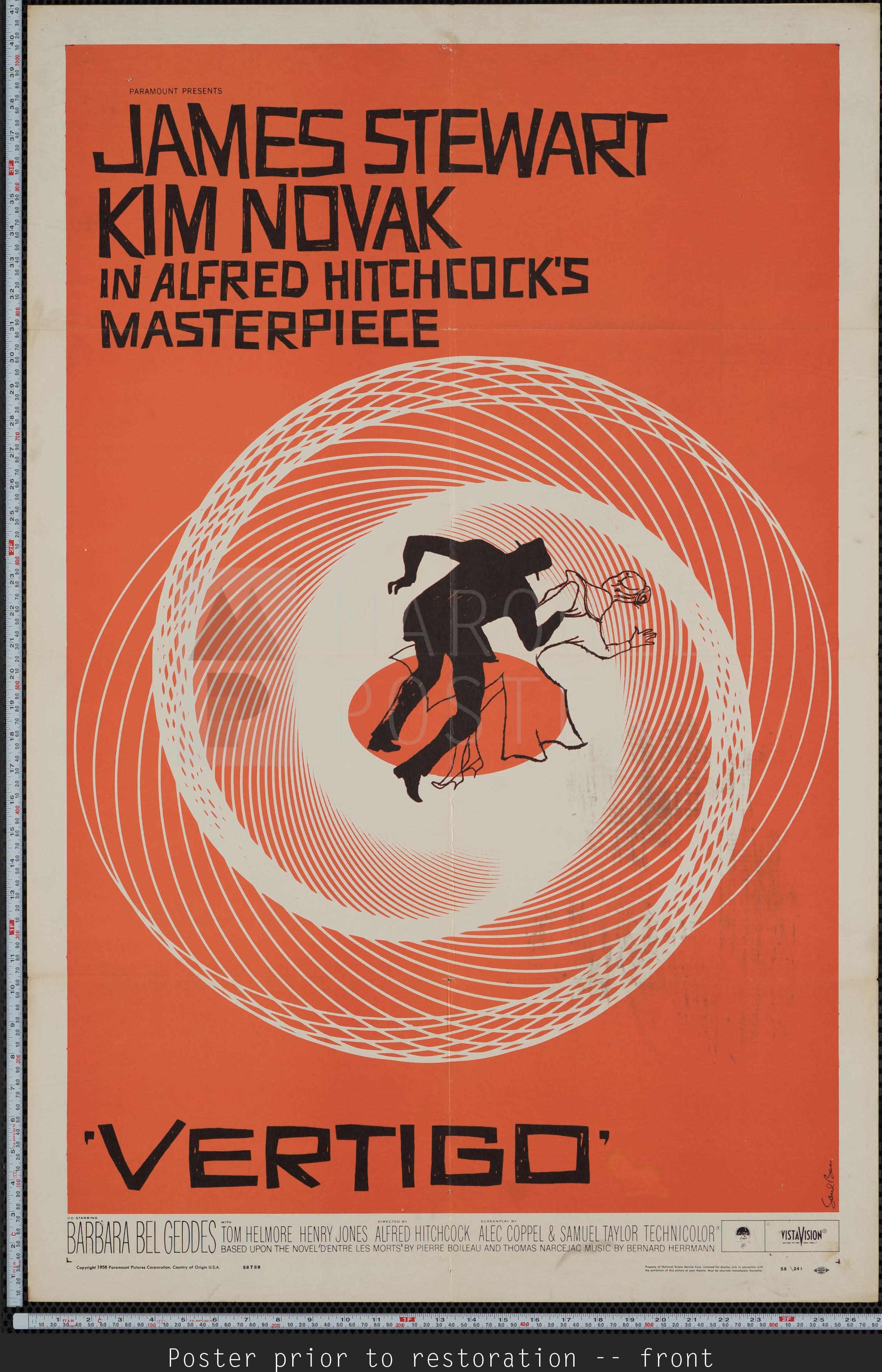 Marquee Poster Vertigo 1958 Us 1 Sheet