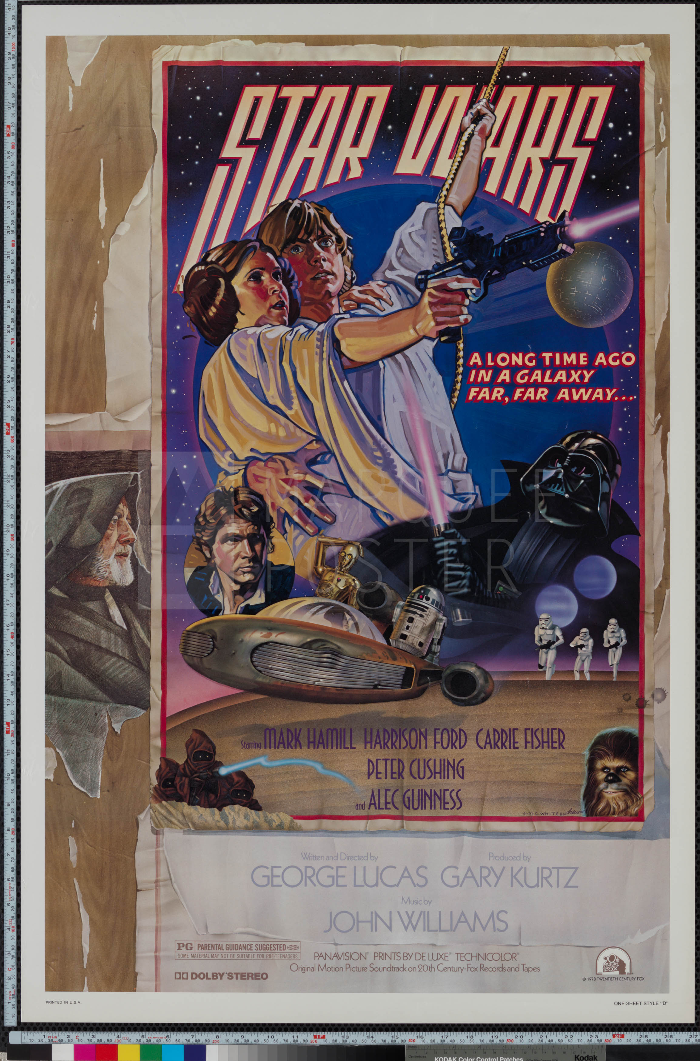 Star Wars Episode Iv A New Hope 1978 Us 1 Sheet Marquee Poster
