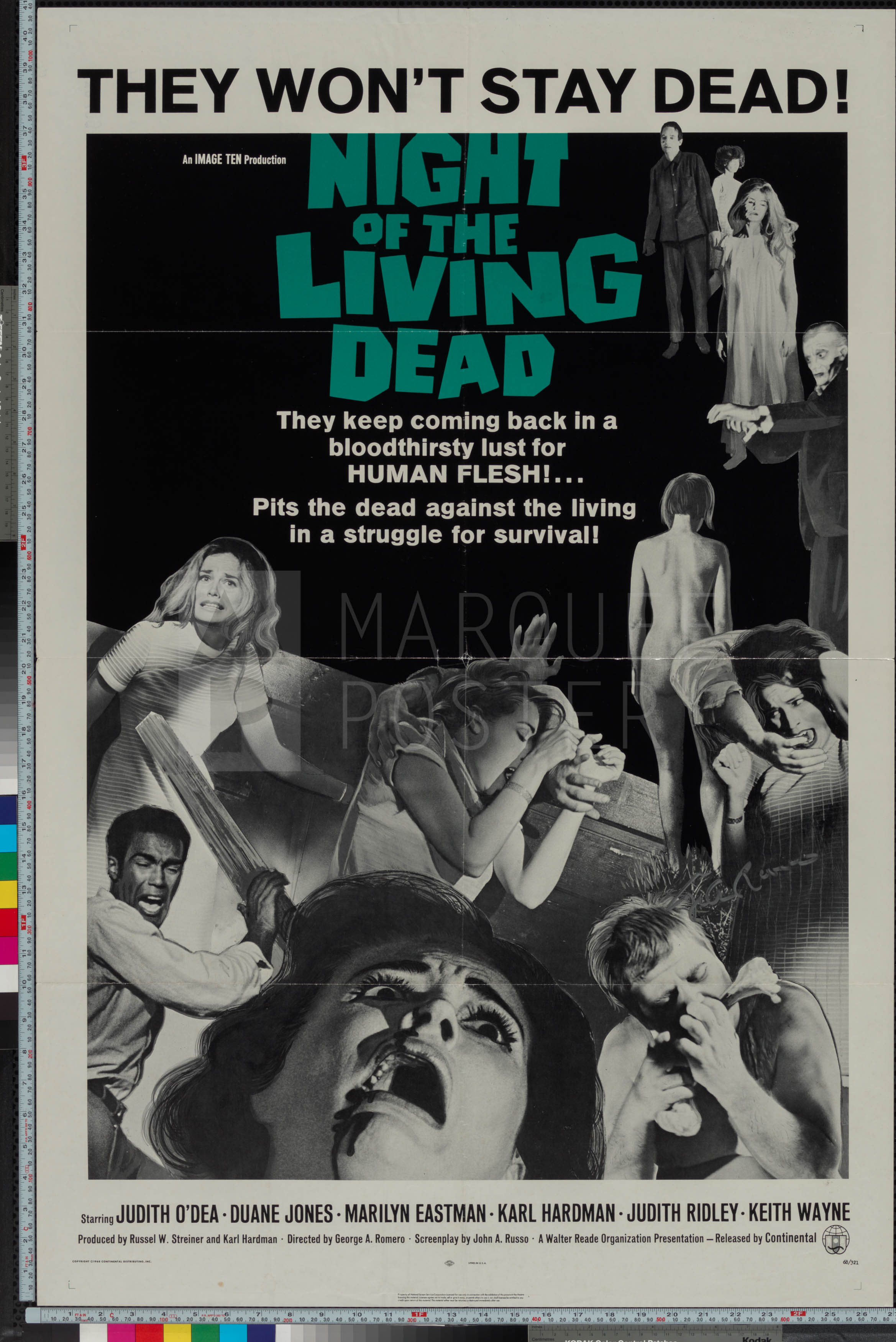 9-night-of-the-living-dead-dark-green-title-style-us-1-sheet-1968-02